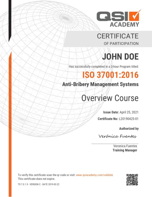 ISO 37001 OVERVIEW COURSE – SAMPLE CERTIFICATE_page-0001